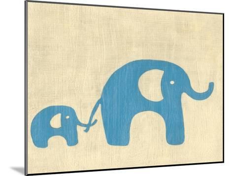 Best Friends - Elephants-Chariklia Zarris-Mounted Art Print
