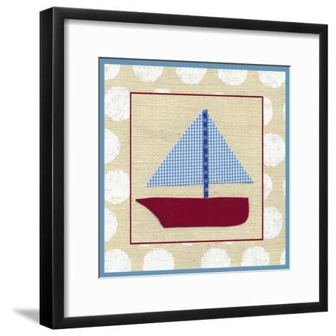 EJ's Sailboat-Chariklia Zarris-Framed Art Print