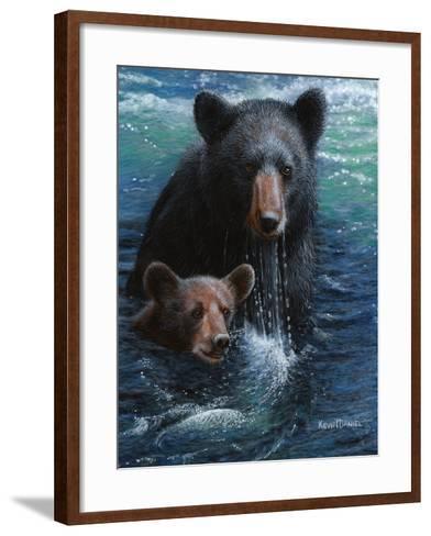 Bearly Swimming-Kevin Daniel-Framed Art Print