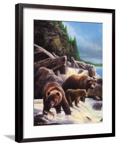 Grizzlies by Falls-Kevin Daniel-Framed Art Print