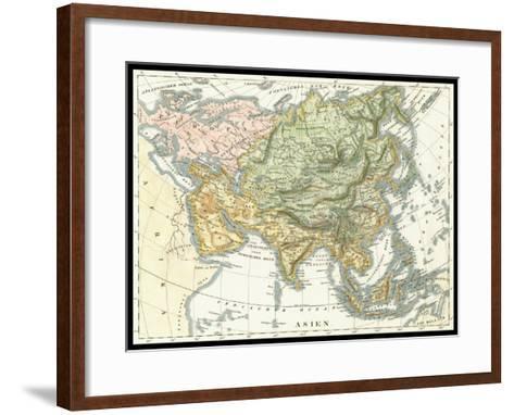 Asian Map--Framed Art Print