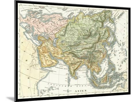 Asian Map--Mounted Art Print