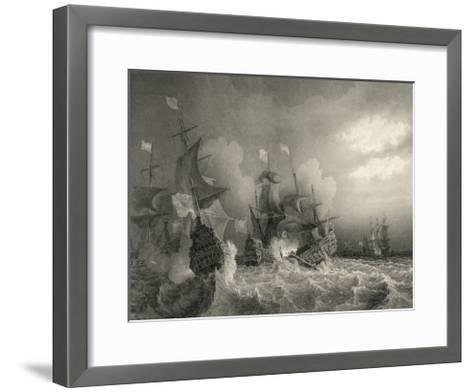 Small Ships at Sea I--Framed Art Print
