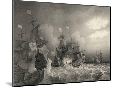 Small Ships at Sea I--Mounted Art Print