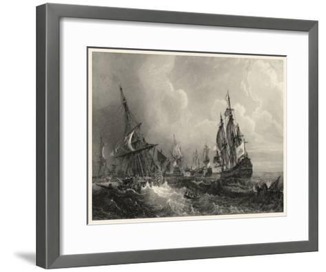 Small Ships at Sea II--Framed Art Print