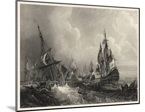 Small Ships at Sea II--Mounted Art Print