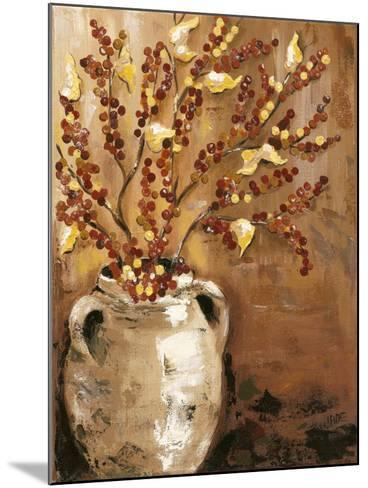 Branches in Vase I-Jade Reynolds-Mounted Art Print