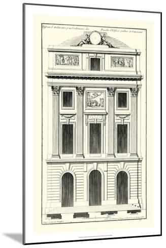 Crackle B&W Architectural Facade II-Jean Deneufforge-Mounted Art Print