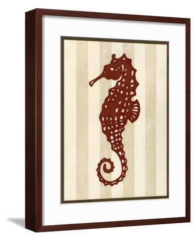 Sea Life Silhouette I-June Erica Vess-Framed Art Print