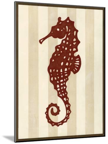 Sea Life Silhouette I-June Erica Vess-Mounted Art Print