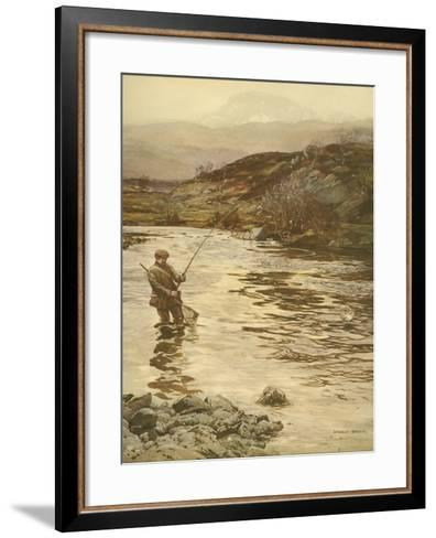 Trout Fishing--Framed Art Print