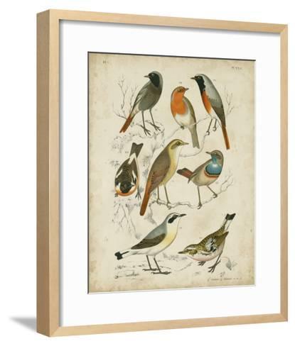 Non-Embellished Avian Gathering I-G^ Lubbert-Framed Art Print