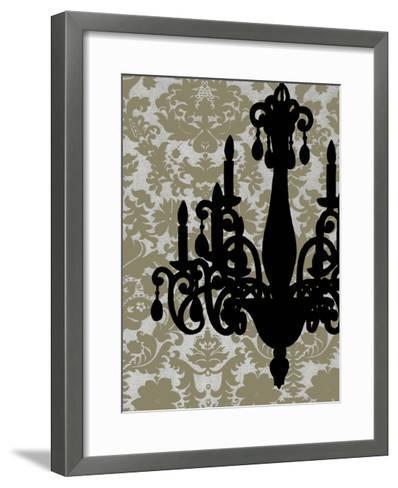 Small Chandelier Silhouette I-Ethan Harper-Framed Art Print