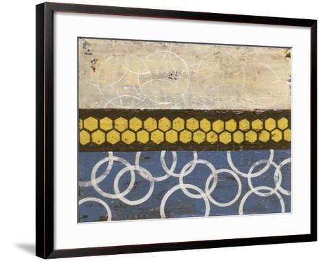 Honey Comb Abstract I-Natalie Avondet-Framed Art Print
