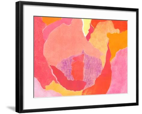 Cabbage Rose IV-Carolyn Roth-Framed Art Print