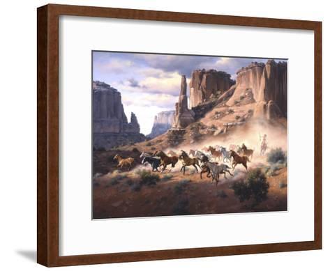 Sandstone and Stolen Horses-Jack Sorenson-Framed Art Print