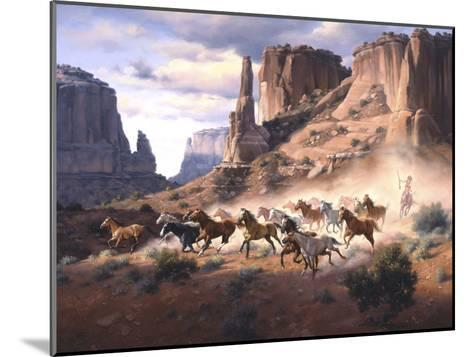 Sandstone and Stolen Horses-Jack Sorenson-Mounted Art Print