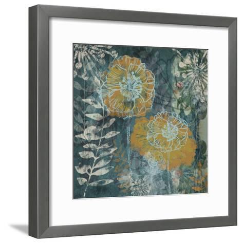 Navy Poppies I-Maria Woods-Framed Art Print