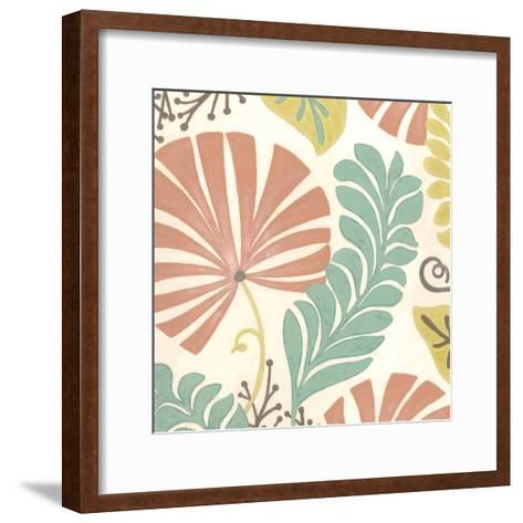 Veranda Floral I-Erica J^ Vess-Framed Art Print
