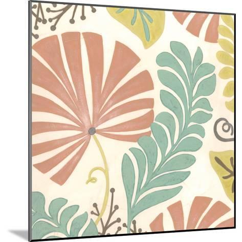 Veranda Floral I-Erica J^ Vess-Mounted Art Print