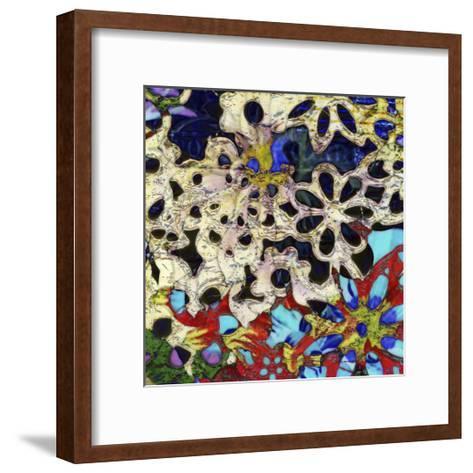 Bejeweled Woodblock I-Ricki Mountain-Framed Art Print