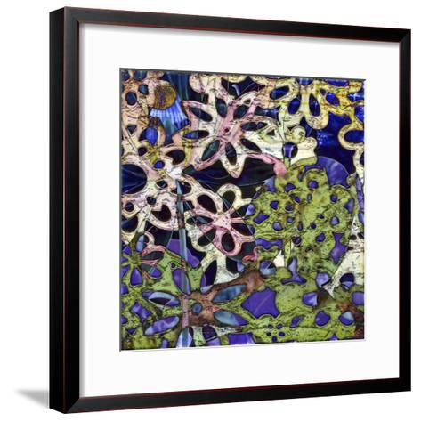 Bejeweled Woodblock III-Ricki Mountain-Framed Art Print