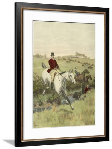 Small the First Jump-Thomas Blinks-Framed Art Print