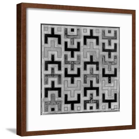 Mudcloth Black and White I-Norman Wyatt Jr^-Framed Art Print