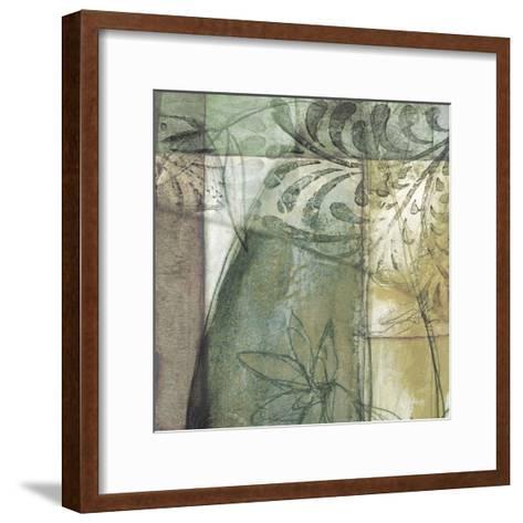 Non-Embld. Stained Glass Garden II-Jennifer Goldberger-Framed Art Print