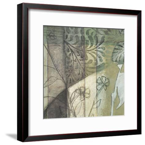 Non-Embld. Stained Glass Garden I-Jennifer Goldberger-Framed Art Print