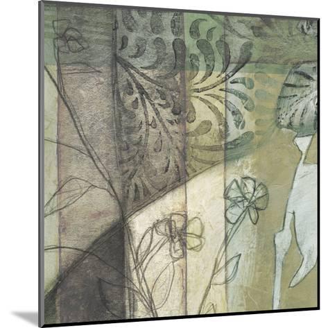 Non-Embld. Stained Glass Garden I-Jennifer Goldberger-Mounted Art Print