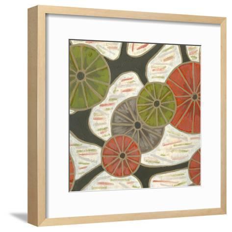 Morning Glories II-Karen Deans-Framed Art Print
