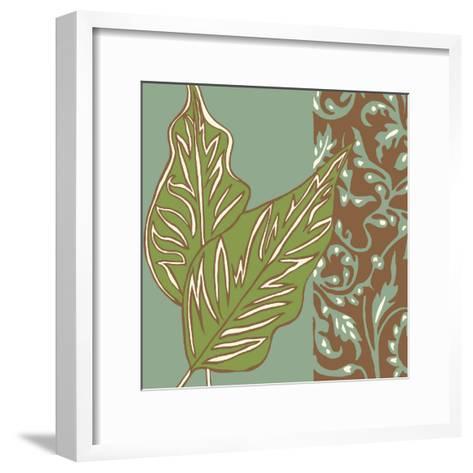 Nouveau Leaves I-Chariklia Zarris-Framed Art Print