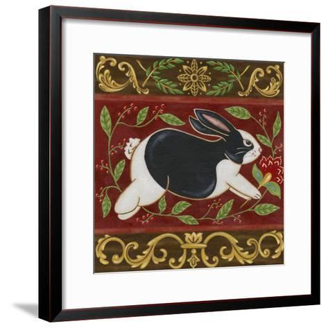 Folk Rabbit II-Vision Studio-Framed Art Print