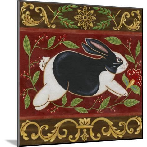 Folk Rabbit II-Vision Studio-Mounted Art Print