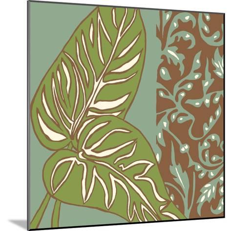 Nouveau Leaves III-Chariklia Zarris-Mounted Art Print