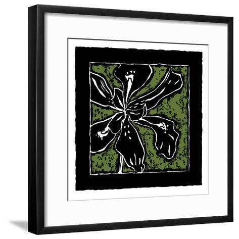 Tropical Woodblock III-Chariklia Zarris-Framed Art Print
