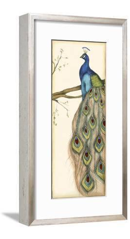 Small Rebecca's Peacock II-Jennifer Goldberger-Framed Art Print