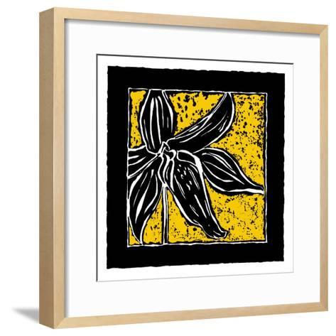 Tropical Woodblock II-Chariklia Zarris-Framed Art Print