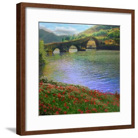 River Bridge-Chris Vest-Framed Art Print