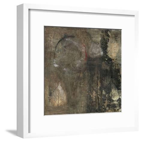 Neutral Leaves II-Elena Ray-Framed Art Print
