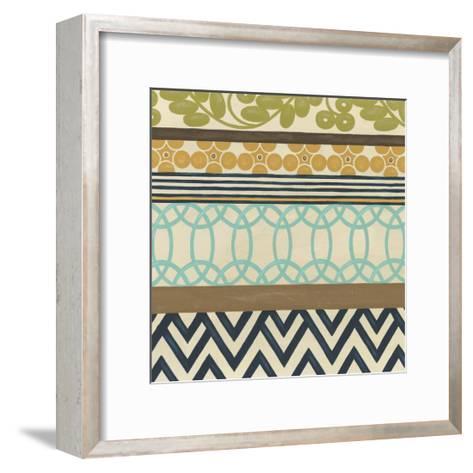 Non-Embellish Geometric Frieze IV-Erica J^ Vess-Framed Art Print