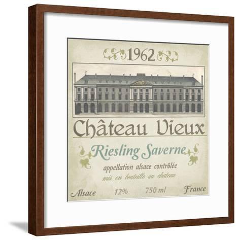 Vintage Wine Labels VII-Erica J^ Vess-Framed Art Print