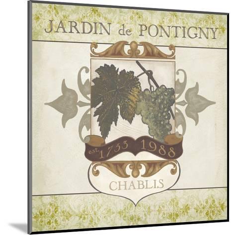 White Wine Labels I-Erica J^ Vess-Mounted Art Print