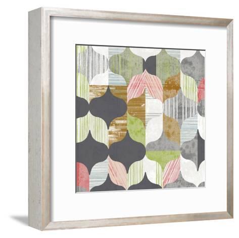 Arabesque Shapes I-Jennifer Goldberger-Framed Art Print