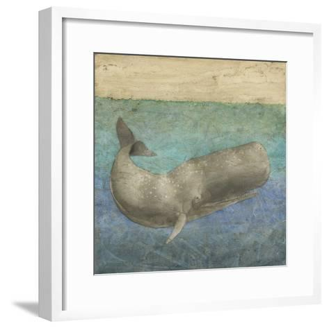 Diving Whale II-Megan Meagher-Framed Art Print