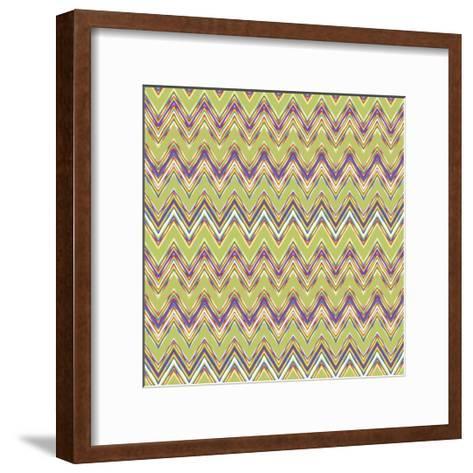 Chevron Waves V-Katia Hoffman-Framed Art Print