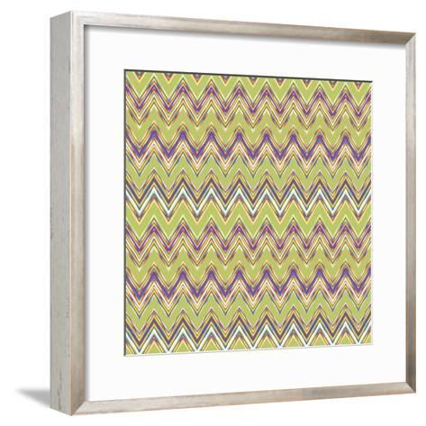 Chevron Waves V-Katia Hoffman-Framed Art Print