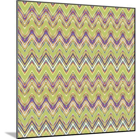 Chevron Waves V-Katia Hoffman-Mounted Art Print