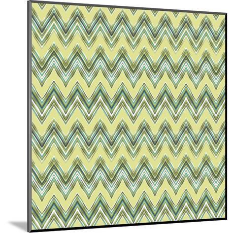 Chevron Waves III-Katia Hoffman-Mounted Art Print